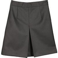 Girls Wool Mix Inverted Pleat School Skirt, Black