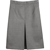Girls Wool Mix Inverted Pleat School Skirt, Grey