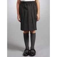John Lewis Girls Pleated School Skirt, Grey