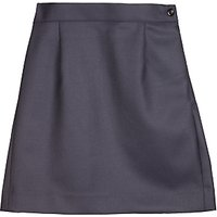 Girls School Wool Mix Pencil Skirt, Navy