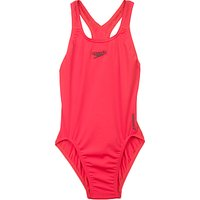 Speedo Girls Medalist Swimsuit, Red
