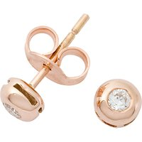 shop for London Road Rose Gold Diamond Stud Earrings at Shopo