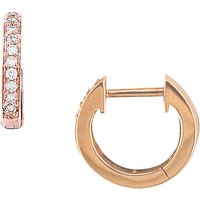 shop for London Road 9ct Gold Diamond Hoop Earrings at Shopo