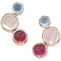 London Road 9ct Rose Gold Multi Earrings