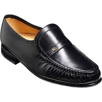 Barker Jefferson Leather Moccasin Shoes, Black