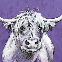 Bull On Purple Print