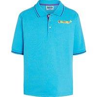Beavers Short Sleeve Polo Shirt, Turquoise