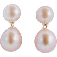 shop for A B Davis 9ct Gold Freshwater Pearl Drop Earrings at Shopo
