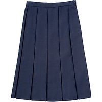 Girls School Box Pleat Skirt, Navy