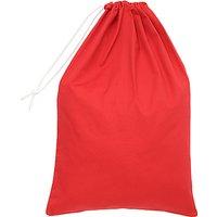 School Drawstring Linen Bag, Red