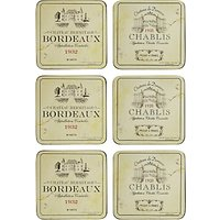 Pimpernel Vin de France Coasters, Box of 6