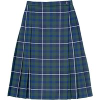 Girls School Douglas Tartan Kilt, Blue/Green