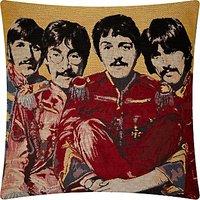 Andrew Martin Beatles Cushion, Yellow
