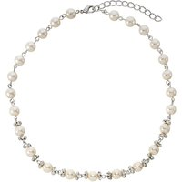 Finesse White Pearl and Cubic Zirconia Necklace