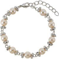 Finesse Perfect Pearl & Cubic Zirconia Link Bracelet