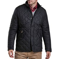 Barbour Chelsea Sportsquilt Water-Resistant Quilted Jacket, Black