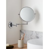 John Lewis & Partners Chrome Extending Magnifying Mirror