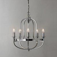 John Lewis & Partners Warwick Chandelier Ceiling Light, Brushed Chrome