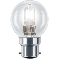 Philips Halogen 42W BC Classic Golf Ball Bulb, Clear