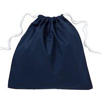 School Linen Shoe Bag, Navy