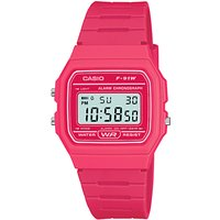 casio unisex core digital chronograph rectangular dial rubber strap watch