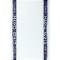 John Lewis Linen Glass Cloth White / Blue