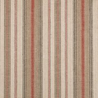 John Lewis Pianosa Stripe Furnishing Fabric, Soft Red