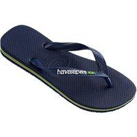 Havaianas Brasil Logo Flip Flops, Navy Blue