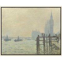 Claude Monet- Thames Below Westminster
