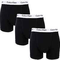 Calvin Klein Underwear Cotton Stretch Trunks, Pack of 3, Black