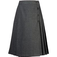 Girls' School Pleated Kilt Skirt, Grey
