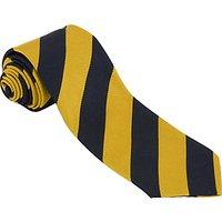 Robert Gordon's College Unisex Tie, Navy/Yellow