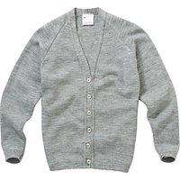 Girls' School Cardigan, Light Grey