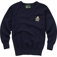 Emanuel School Boys V-Neck Pullover, Navy