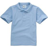 Plain Unisex School Polo Shirt, Light Blue