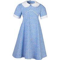 Girls School Summer Dress, Blue/White