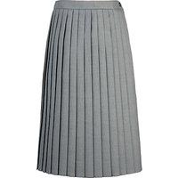 Girls' School Pleat Skirt, Light grey