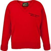 Ponteland Community Middle School Unisex Pullover, Red