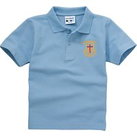 St Peters RC Primary School Boys Summer Polo Shirt, Sky Blue