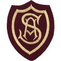St Anselms School Unisex Blazer Badge, Maroon/Yellow