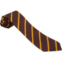 St Anselms School Unisex Tie, Maroon/Yellow