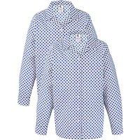 Grey Coat Hospital School Long Sleeve Blouse, Pack Of 2, White/Blue