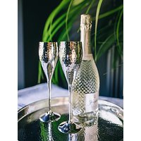 Culinary Concepts Hammered Champagne Flutes, Set of 2