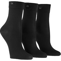Calvin Klein Light Sparkle Short Crew Socks, Pack of 3