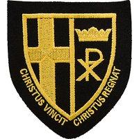 Christ the King Catholic School Unisex Blazer Badge, Black/Yellow