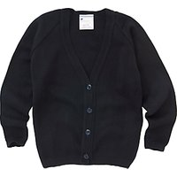 Girls School V-Neck Cardigan, Dark Navy