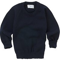 Alleyn's Junior School Unisex Junior Crew Neck Pullover, Navy