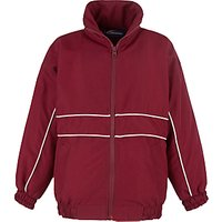 School Unisex Tracksuit Top, Maroon/White