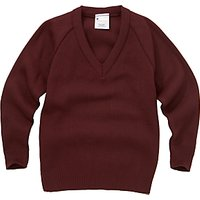 School Unisex V-Neck Jumper, Maroon
