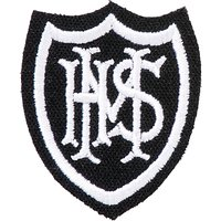 Mayville High School Boys Cap Badge, White/Black